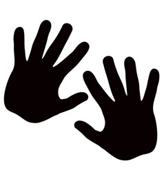 silhouette model palm people drawn in black vector image