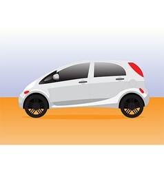 Small compact city car vector