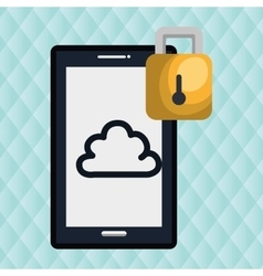 smartphone with padlock isolated icon design vector image