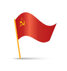 Soviet union flag vector