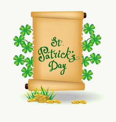 st patrick s day - greeting card vector image