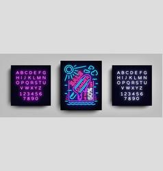 summer sale neon sign design template typography vector image