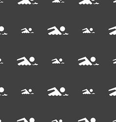 Swimming sign icon Pool swim symbol Sea wave vector image