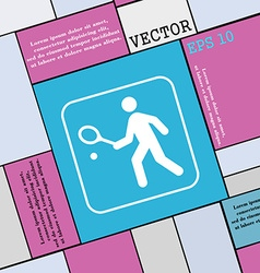Tennis player icon sign Modern flat style for your vector image