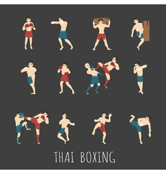 Thai boxing eps10 format vector