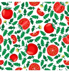 Tomatoes seamless pattern vector