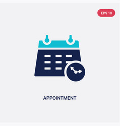 Two color appointment icon from human resources vector