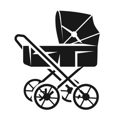vintage baby stroller icon simple style vector image