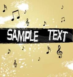 vintage music background vector image