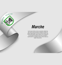 Waving ribbon or banner with flag region italy vector