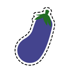 whole eggplant icon image vector image