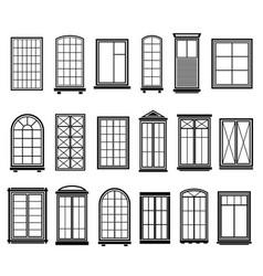 Window frames vintage framing windows blank vector