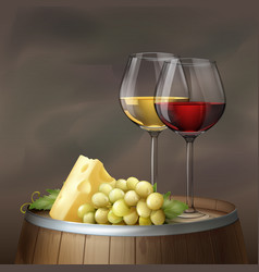 Wine still life vector
