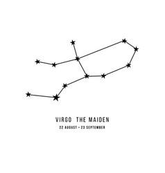 Zodiac constellation virgo vector