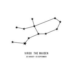 zodiac constellation virgo vector image