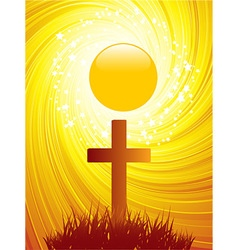 Abstract Easter Cross background vector image