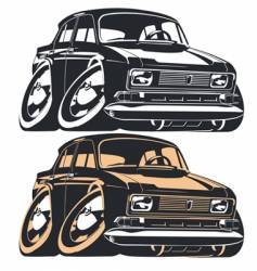 Cartoon Muscle Car vector image vector image