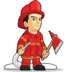 Cartoon of Firefighter Boy vector image