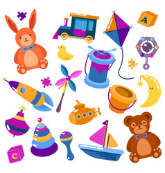 children or kids isolated toys teddy bear vector image
