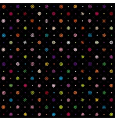 Christmas seamless pattern from multicolored vector image vector image