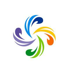 Circle swirl colorful logo vector