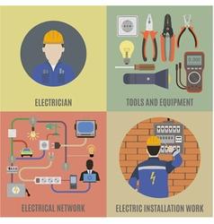 Electrician vector image
