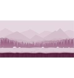 Fantasy cartoon landscape seamless nature vector image vector image