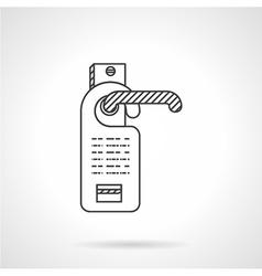 Hotel door label line icon vector image