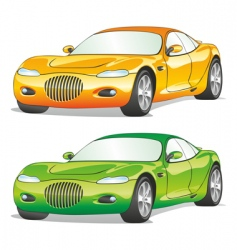 isolated cars vector image vector image