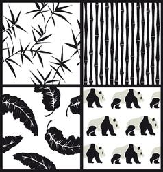 Set of japanese patterns vector image