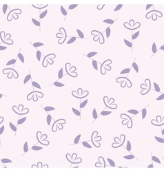 Simple floral seamless pattern flower background vector image vector image