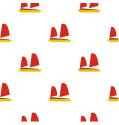 vietnamese junk boat pattern seamless vector image vector image