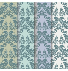 Vintage royal classic pattern set vector