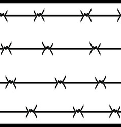 Barbed wire seamless background vector image vector image