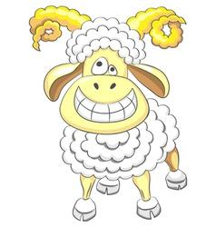 cartoon funny happy ram vector image