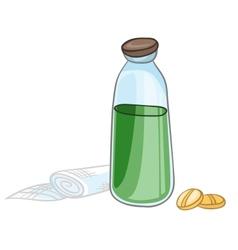 cartoon home medicine pills vector image vector image