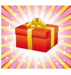 gift box illustration vector image vector image