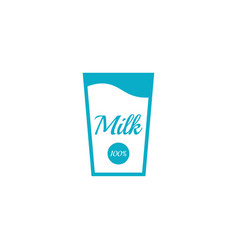 glass bottle of milk vector image