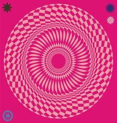 mystical wheel optical vector image