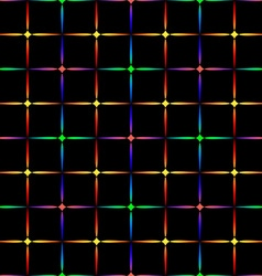 Neon diamonds Pattern or background of vector image vector image
