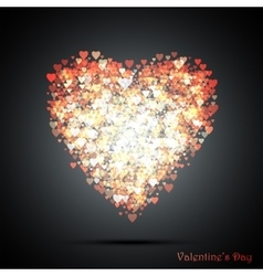 Valentines bokeh hearts Many of transparent vector image vector image