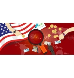 america usa united states crisis down problem vector image vector image