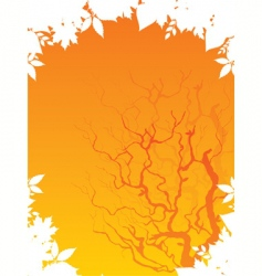 autumn back vector image vector image