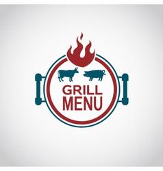 barbecue icon design vector image vector image