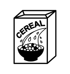 Cereal box and bowl vector