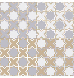 Simple geometric pattern of fashionable color vector