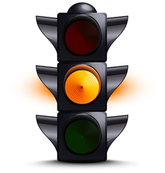 Traffic light on yellow vector image vector image