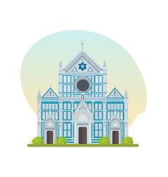 franciscan church of basilica of santa croce vector image