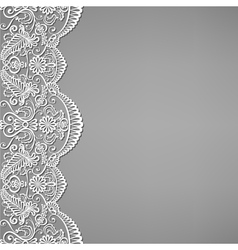 lace and floral ornaments vector image vector image