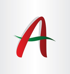 letter a abstract character design vector image